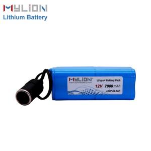 12V7000mah LiFe PO4 Battery pack