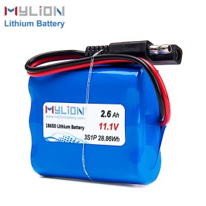 11.1V2600mah Li ion Battery