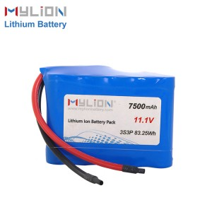 11.1V7500mah Li ion Battery
