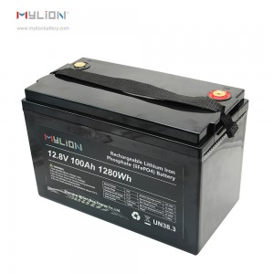 Mylion 12V100AH LiFe PO4 storage battery for ups solar car etc.