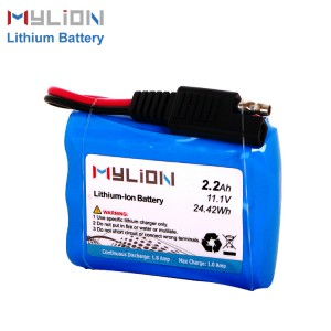 11.1V2200mAh lithium ion battery with sae plug
