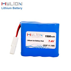 7.4V1500mAh 14500 AA Lithium ion Battery Pack