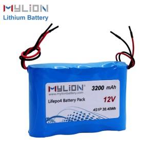 12V3200mah LiFe PO4 Battery