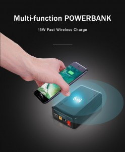 Fast Wireless Charge power bank lithium battery backup MPW922